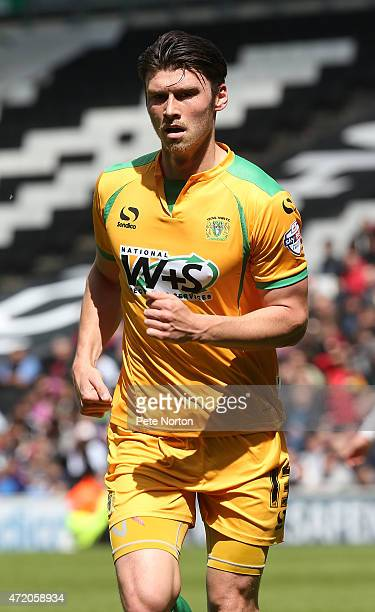 Kieffer Moore of Yeovil Town in action during the Sky Bet League One match between MK Dons and Yeovil Town at Stadium mk on May 3 2015 in Milton...