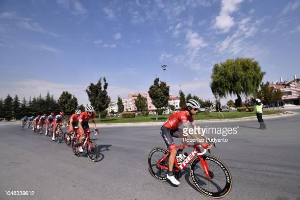 Kiel Reijnen of Team Trek Segafredo USA leads the peloton during Stage 1 of the 54th Presidential Cycling Tour of Turkey 2018, Konya to Konya on...