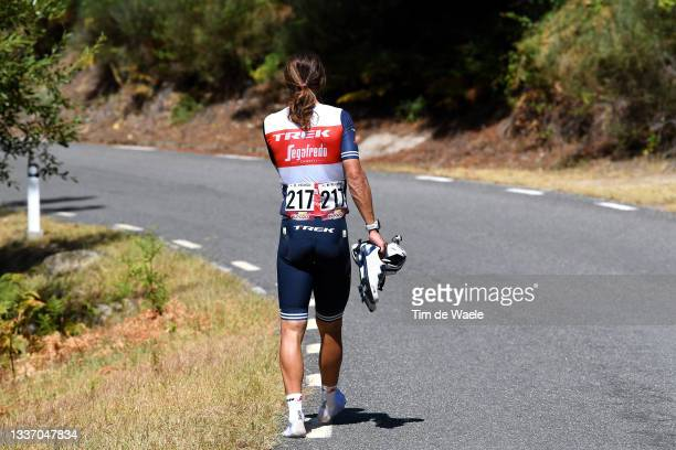 Kiel Reijnen of United States and Team Trek - Segafredo abandons the race during the 76th Tour of Spain 2021, Stage 15 a 197,5km km stage from...