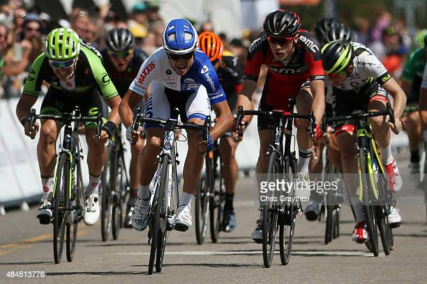Kiel Reijnen of United States riding for UnitedHealthcare sprints to win stage three from Copper Mountain to Aspen of the 2015 USA Pro Challene on...