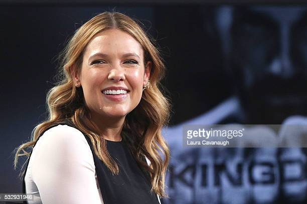 Kiele Sanchez attends AOL Build Speaker Series to disuss Kingdom at AOL Studios In New York on May 19 2016 in New York City