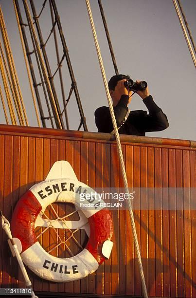 KielLondon Aboard Chilean Navy Tallship 'Esmeralda' On July 1st 1994 KielLondon Aboard Chilean Navy Tallship 'Esmeralda' On July 1st 1994