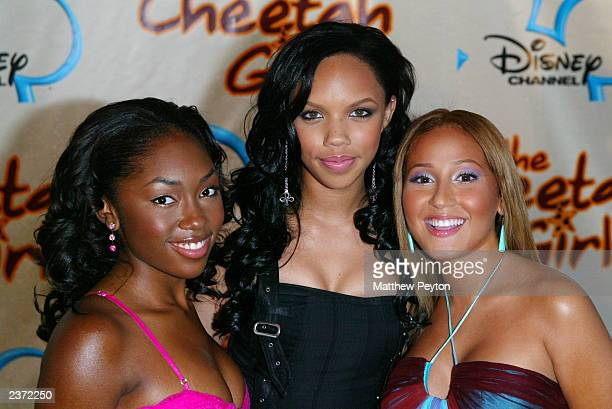 Kiely Williams Adrienne Bailon and Naturi Naughton of the group 3LW attend the premiere of Disney Channel's The Cheetah Girls at La Guardia High...