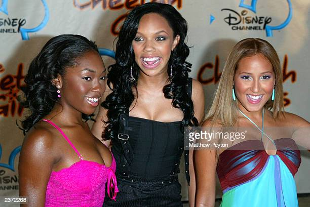 Kiely Williams Adrienne Bailon and Naturi Naughton of the group 3LW attend the premiere of Disney Channel's 'The Cheetah Girls' at La Guardia High...