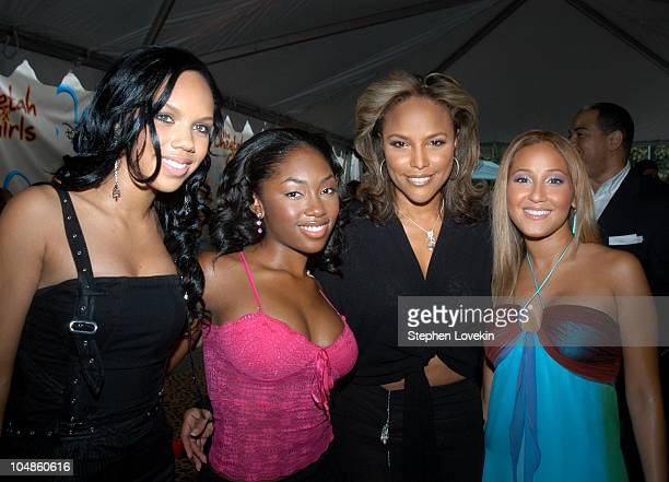 Kiely Williams Jessica Benson of '3LW' with Lynn Whitfield and Adrienne Bailon of '3LW'