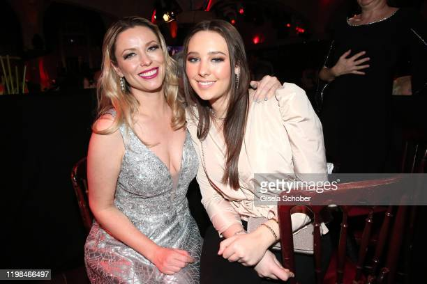 """Kiera Chaplin and her sister India Chaplin Van Diessen during the Lambertz Monday Night 2020 """"Wild Chocolate Party"""" on February 3, 2020 in Cologne,..."""