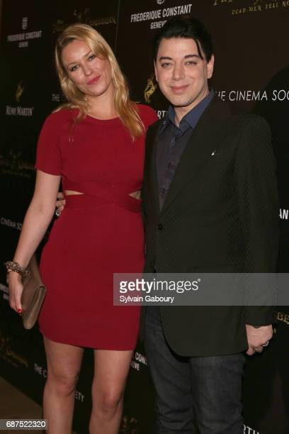 Kiera Chaplin and Malan Breton attend The Cinema Society with Remy Martin Frederique Constant host a screening of Pirates of the Caribbean Dead Men...
