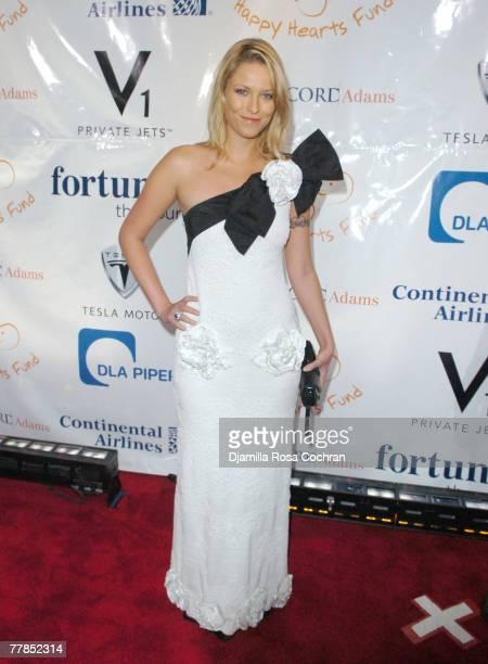 Kiera Chaplin attends Petra Nemcova's Happy Hearts Fund Heart of Gold Ball on October 10th, 2007 at Cipriani Wall Street in New York City, New York.