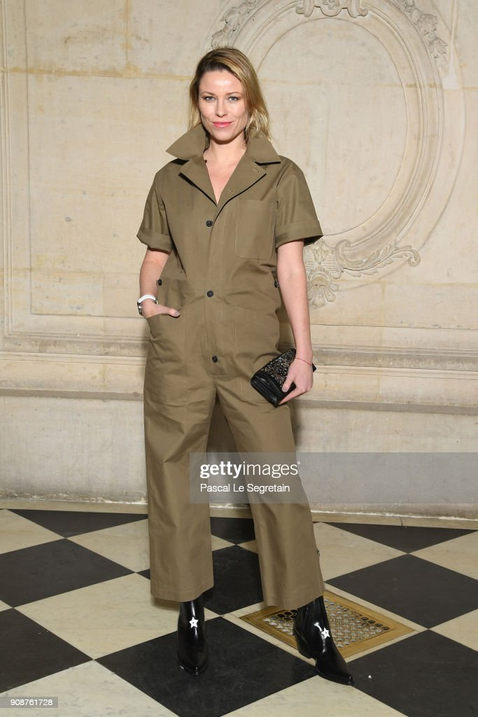 Kiera Chaplin attends the Christian Dior Haute Couture Spring Summer 2018 show as part of Paris Fashion Week on January 22, 2018 in Paris, France.