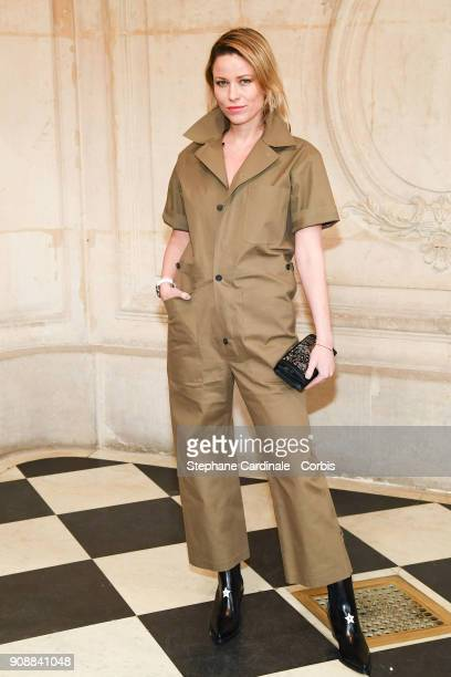Kiera Chaplin attends the Christian Dior Haute Couture Spring Summer 2018 show as part of Paris Fashion Week January 22 2018 in Paris France