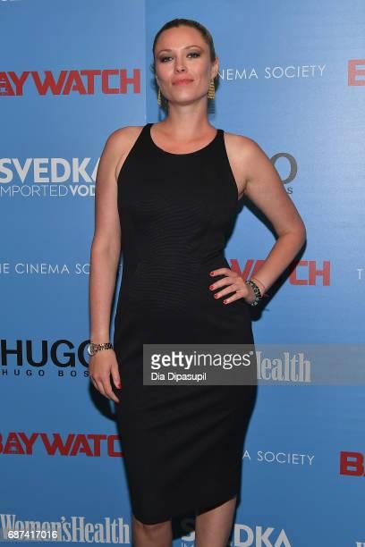 Kiera Chaplin attends The Cinema Society's Screening Of Baywatch at Landmark Sunshine Cinema on May 22 2017 in New York City