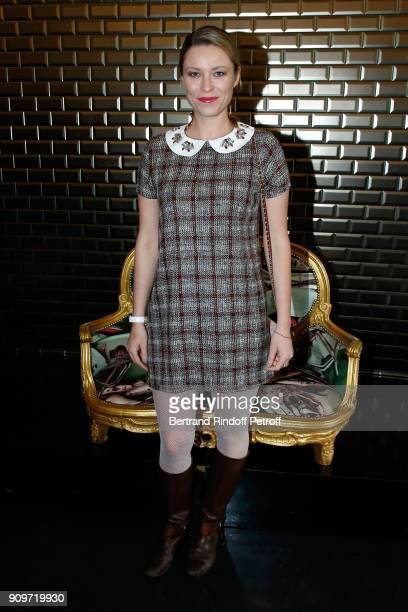 Kiera Chaplin attends the JeanPaul Gaultier Haute Couture Spring Summer 2018 show as part of Paris Fashion Week on January 24 2018 in Paris France