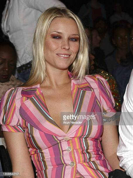 Kiera Chaplin during MercedesBenz Fall 2005 LA Fashion Week at Smashbox Studios Petro Zillia Front Row at Smashbox Studios in Culver City California...
