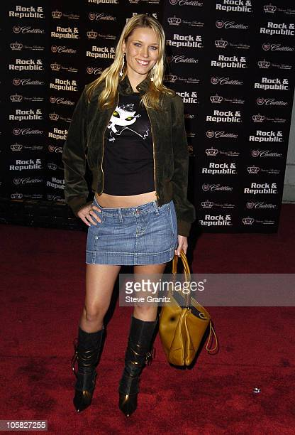 Kiera Chaplin during MercedesBenz Spring 2005 LA Fashion Week at Smashbox Studios Cadillac Presents Rock Republic Spring 2005 Fashion Show Arrivals...