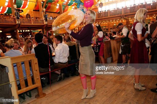 """Kiera Chaplin, granddaughter of Charlie Chaplin, during """"Veuve Clicquot Business Women Wiesn"""" as part of the Oktoberfest 2019 at Schuetzen-Festzelt..."""
