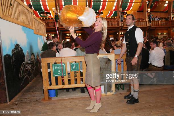 """Kiera Chaplin, granddaughter of Charlie Chaplin, during """"Veuve Clicquot Business Women Wiesn"""" as part of the Oktoberfest 2019 at Theresienwiese on..."""