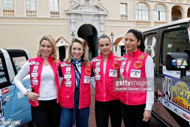Kiera Chaplin Jazmin Grace Grimaldi Pauline Ducruet and Schanel Bakkouche attend the 28th 'Rallye Aicha Des Gazelles Du Maroc' on March 17 2018 in...