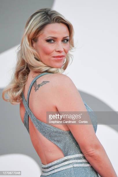 """Kiera Chaplin walks the red carpet ahead of the movie """"Padrenostro"""" at the 77th Venice Film Festival at on September 04, 2020 in Venice, Italy."""