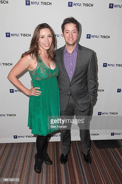 Kiera Mickiewicz and actor Bradford Anderson attend NYU's Tisch School Of The Arts LA Gala at Regent Beverly Wilshire Hotel on October 28 2013 in...