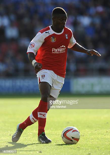 Kieran Agard of Rotherham United during the Sky Bet League One match between Rotherham United and Peterborough United at The New York Stadium on...