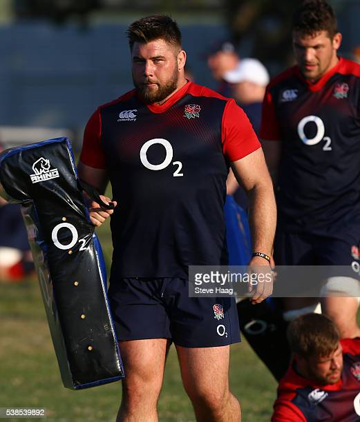 Kieran Brookes of England Saxons during a training session on June 6, 2016 in Durban, South Africa.