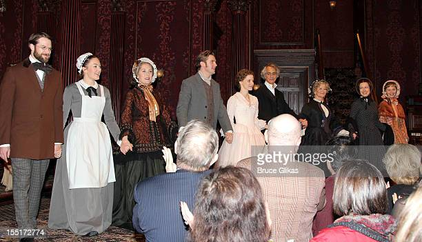Kieran Campion Virginia Kull Caitlin O'Connell Dan Stevens Jessica Chastain David Straitharin Judith Ivey Dee Nelson and Mairin Lee take the curtain...