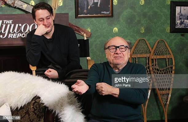 Kieran Culkin and Danny DeVito from the film 'Weiner Dog' attends The Hollywood Reporter 2016 Sundance Studio At Rock Reilly's Day 1 on January 22...
