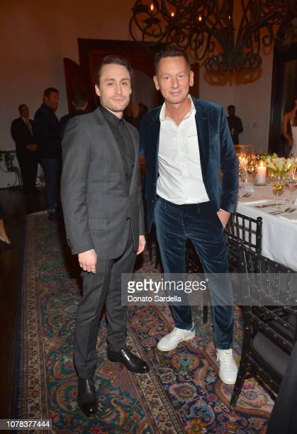 Kieran Culkin and EditorInChief of GQ Jim Nelson attend a private dinner hosted by GQ and Dior in celebration of the 2018 GQ Men Of The Year Party on...