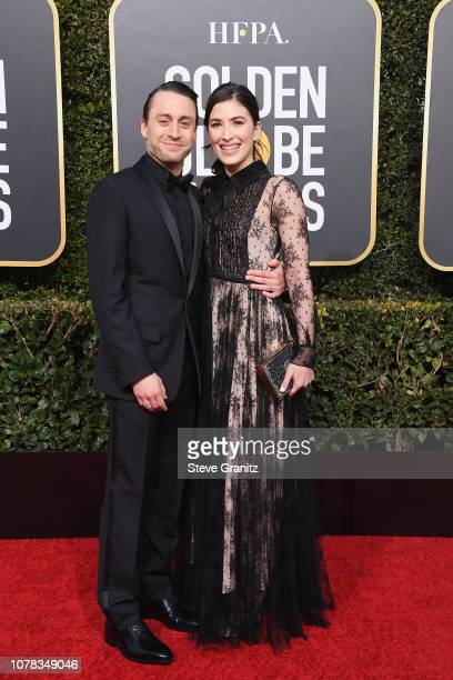 Kieran Culkin and Jazz Charton attend the 76th Annual Golden Globe Awards at The Beverly Hilton Hotel on January 6 2019 in Beverly Hills California