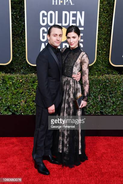 Kieran Culkin and Jazz Charton attend the 76th Annual Golden Globe Awards held at The Beverly Hilton Hotel on January 06 2019 in Beverly Hills...