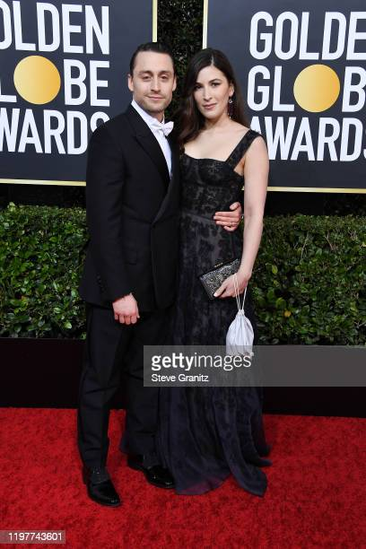 Kieran Culkin and Jazz Charton attend the 77th Annual Golden Globe Awards at The Beverly Hilton Hotel on January 05 2020 in Beverly Hills California