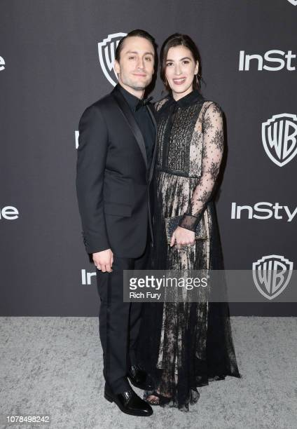 Kieran Culkin and Jazz Charton attend the InStyle And Warner Bros Golden Globes After Party 2019 at The Beverly Hilton Hotel on January 6 2019 in...