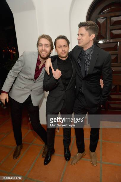 Kieran Culkin and Topher Grace attend the 2018 GQ Men of the Year Party at a private residence on December 6 2018 in Beverly Hills California