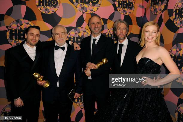 Kieran Culkin Brian Cox Jesse Armstrong Alan Ruck and Sarah Snook attend HBO's Official 2020 Golden Globe Awards After Party in Los Angeles California