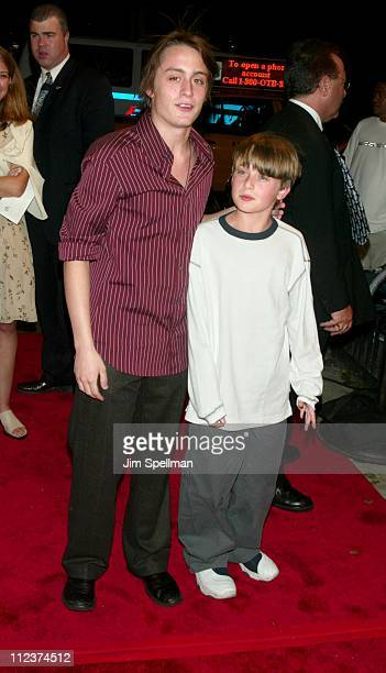 Kieran Culkin Rory Culkin during New York Premiere of 'Igby Goes Down' at Chelsea West Theatres in New York City New York United States