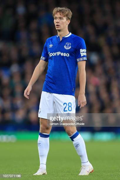 Kieran Dowell of Everton looks on during the Carabao Cup Second Round match between Everton and Rotherham United at Goodison Park on August 29 2018...