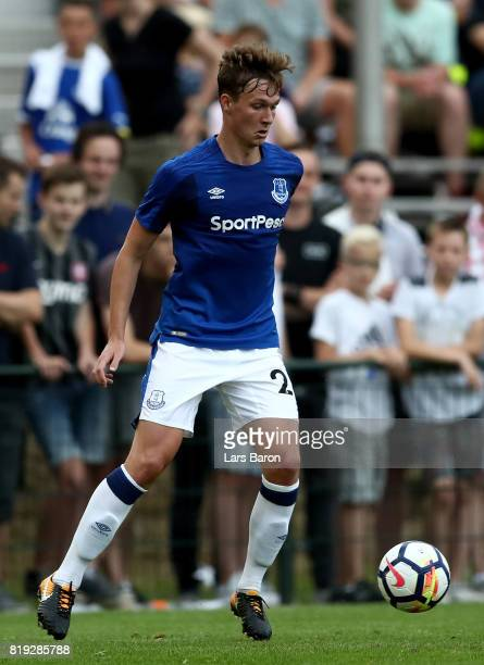 Kieran Dowell of Everton runs with the ball during a preseason friendly match between FC Twente and Everton FC at Sportpark de Stockakker on July 19...