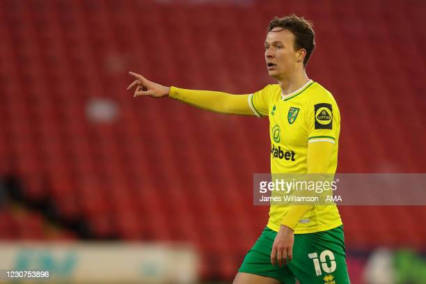 Kieran Dowell of Norwich City during The Emirates FA Cup Fourth Round match between Barnsley and Norwich City at Oakwell Stadium on January 23, 2021...