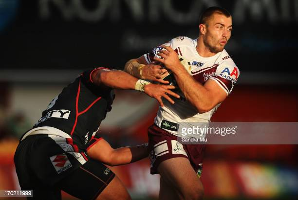 Kieran Foran of the Sea Eagles in action during the round 13 NRL match between the New Zealand Warriors and the Manly Sea Eagles at Mt Smart Stadium...