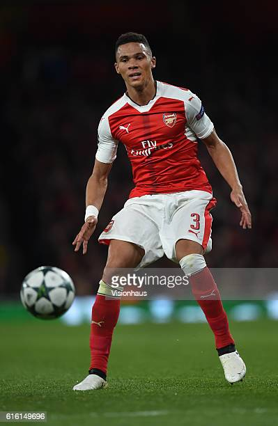 Kieran Gibbs of Arsenal in action during the UEFA Champions League match between Arsenal FC and PFC Ludogorets Razgrad at Emirates Stadium on October...