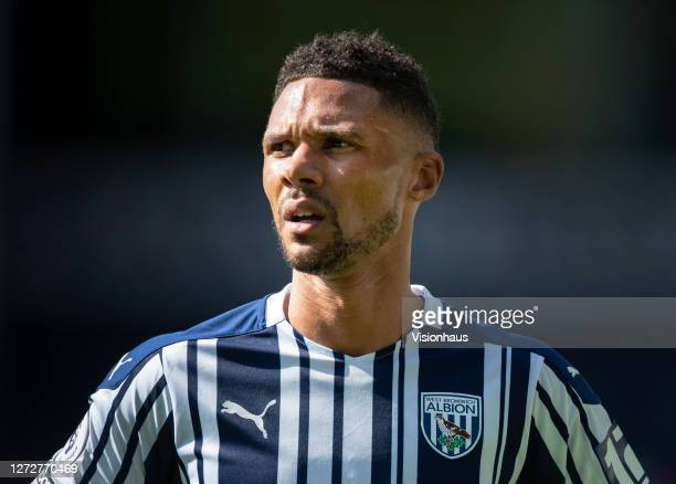 Kieran Gibbs of West Bromwich Albion during the Premier League match between West Bromwich Albion and Leicester City at The Hawthorns on September...