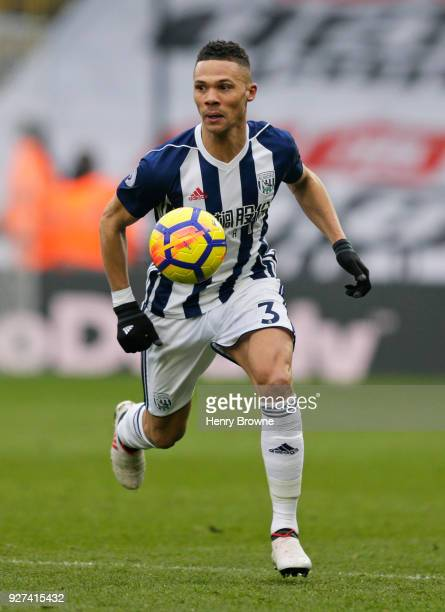Kieran Gibbs of West Bromwich Albion during the Premier League match between Watford and West Bromwich Albion at Vicarage Road on March 3 2018 in...