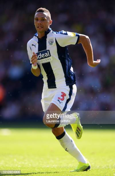 Kieran Gibbs of West Bromwich Albion in action during the Sky Bet Championship match between West Bromwich Albion and Bolton Wanderers at The...