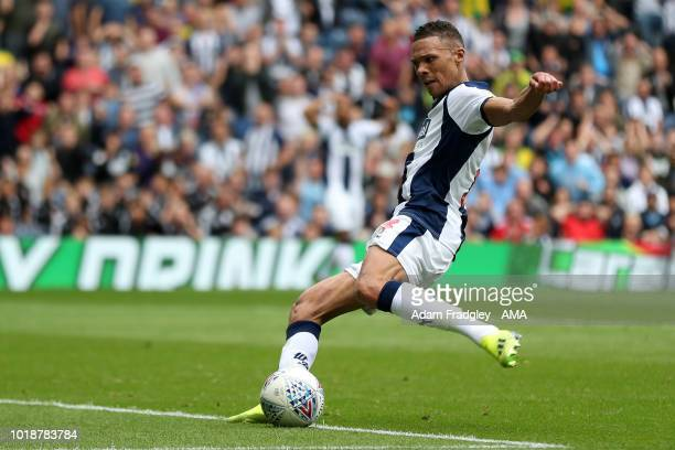 Kieran Gibbs of West Bromwich Albion scores a goal to make it 21 during the Sky Bet Championship match between West Bromwich Albion and Queens Park...