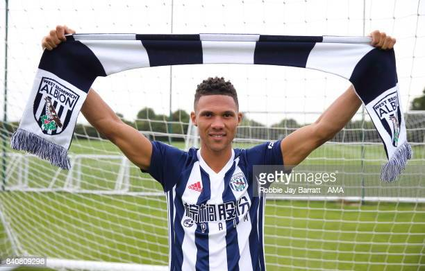 Kieran Gibbs signs for West Bromwich Albion on August 29, 2017 in West Bromwich, England.
