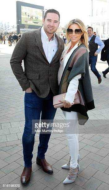 Kieran Hayler and Katie Price attend day 3 St Patrick's Day of the Cheltenham Festival on March 17 2016 in Cheltenham England