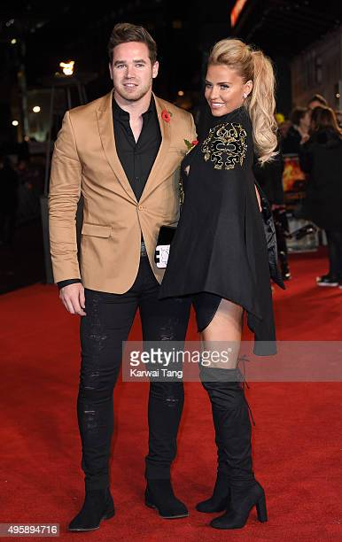 Kieran Hayler and Katie Price attend The Hunger Games: Mockingjay Part 2 - UK Premiere at Odeon Leicester Square on November 5, 2015 in London,...