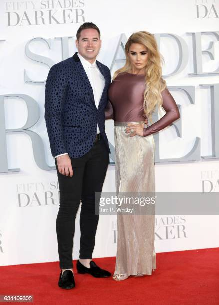 Kieran Hayler and Katie Price attend the UK Premiere of 'Fifty Shades Darker' at the Odeon Leicester Square on February 9 2017 in London United...