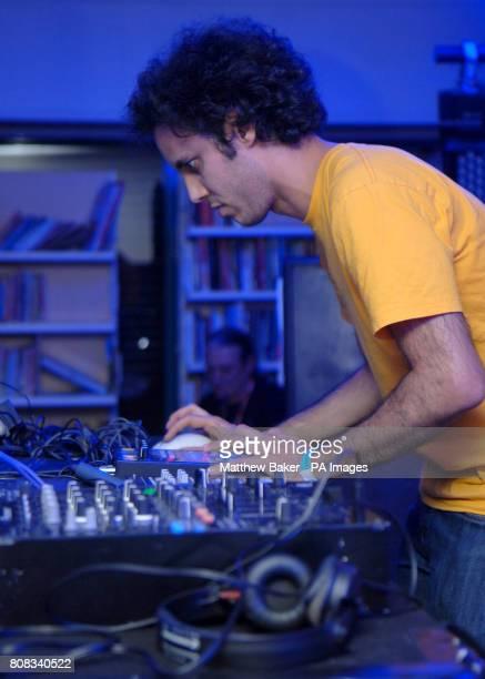 Kieran Hebden aka Four Tet performs at the Oxjam Festival in Dalston north east London