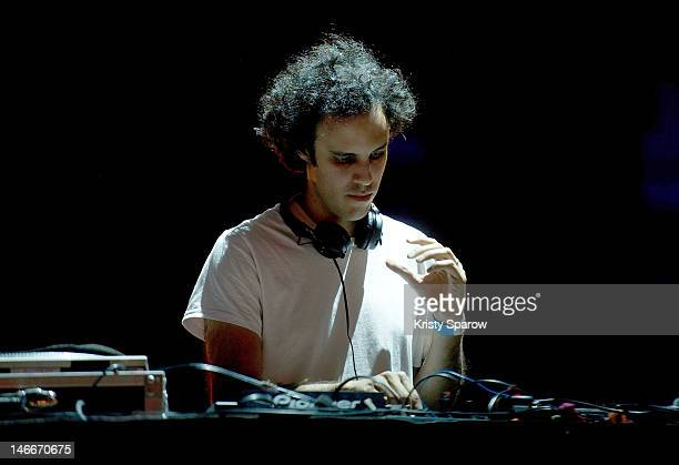 Kieran Hebden of Four Tet performs onstage during the White Ball for Monumenta 2012 Closing Party hosted by 'We Love Art' And The Creators Project at...